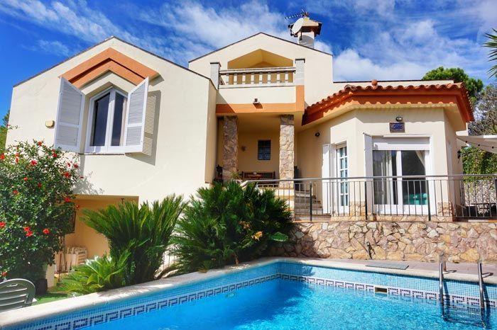 villa santa cristina in blanes with pool and sea views